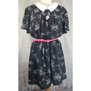 Asos curve short sleeve collared tea dress sz 16